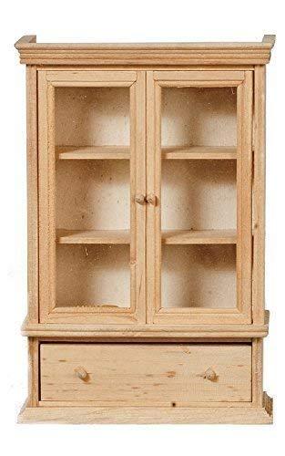 Melody Jane Dollhouse Bookcase Cabinet Unfinished Bare Wood Miniature Furniture