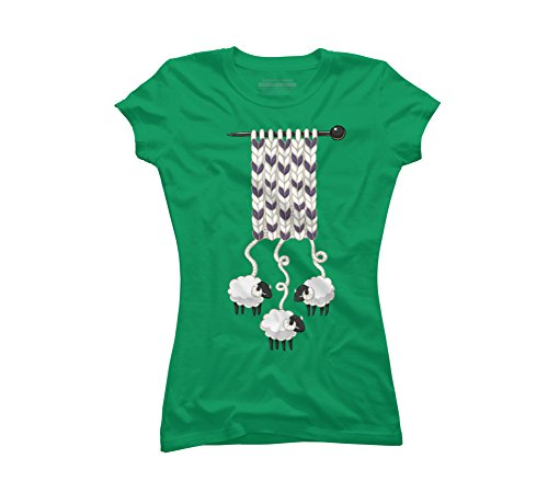 Wool Scarf Juniors' Large Kelly Green Graphic T Shirt - Design By Humans