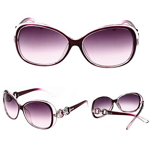 Lamdoo Sol Retro Gafas Frame Morado Morado 141mm Hot Mujer Diseño de Width para Clásico wIrqI5