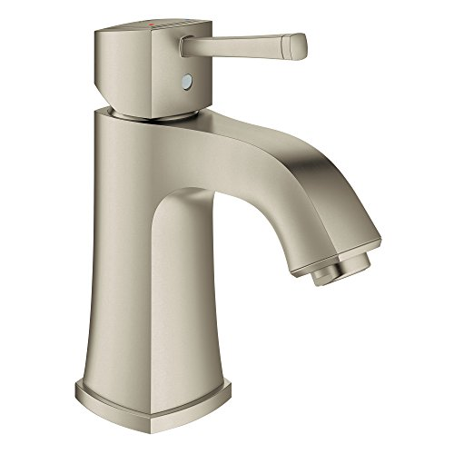 (Grandera Deck Mount 4 in. Centerset Single-Handle Single-Hole Low Arch Bathroom Faucet Without Pop-Up - 1.5 GPM )
