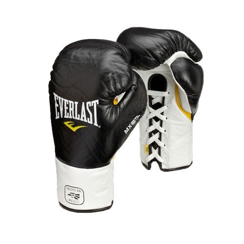 Everlast MX Lace Professional Boxing glove (Black, 10oz XL)