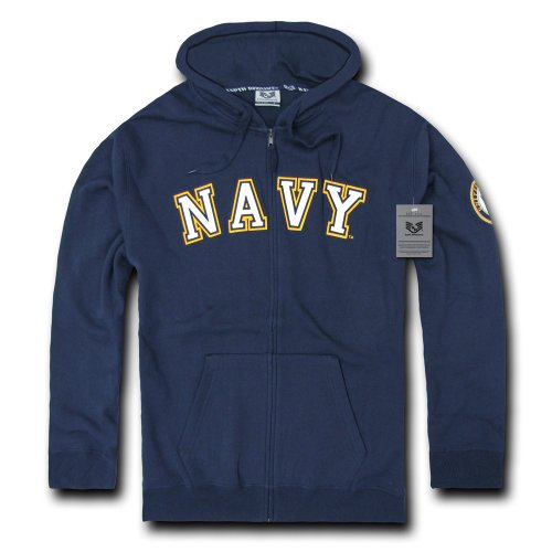 Navy Embroidered Zip - 4