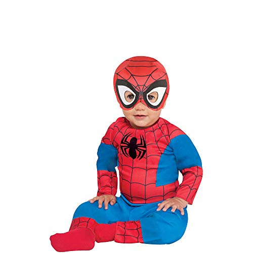 Suit Yourself Spider-Man Halloween Costume for Babies, 6-12 M, Includes Accessories -