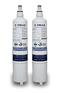 LG LT600P, 5231JA2006B Refrigerator Water Filter Compatible Replacement ZWF-10 (2 Pack) by Zipras by Zipras