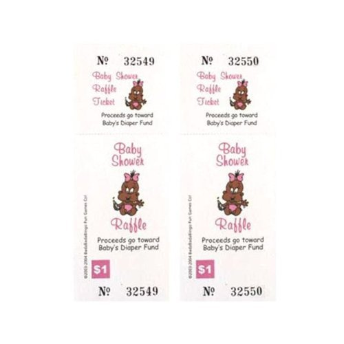 Search : Baby Shower Raffle Tickets African American Girl