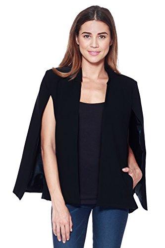 a-d-womens-woven-structured-cape-blazer-suit-jacket-w-pockets-black-large