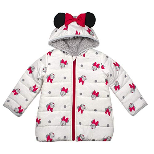 Disney Minnie Mouse Puffy Winter Coats for Girls and Toddlers with 3D Ears