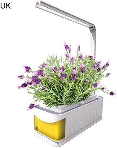 PovKeever LED Crecer Luz, Interior Elegante Hierba Jardín Hidropónico Cultivo Sistema Espectro Completo Planta Luces con Auto Encendido/Apagado, Integrada Dos Luz Modos y Agua Desconexión Alarma: Amazon.es: Jardín
