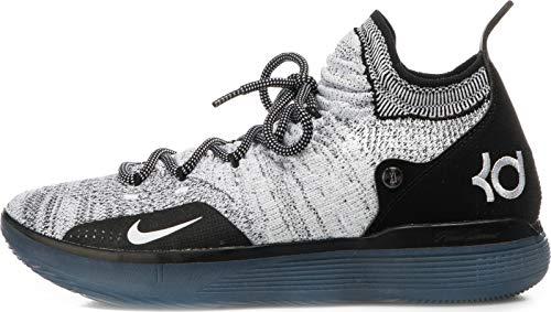Nike Men's KD 11 Black/White/Racer Blue/Bright Crimson Knit Basketball Shoes 13 M US