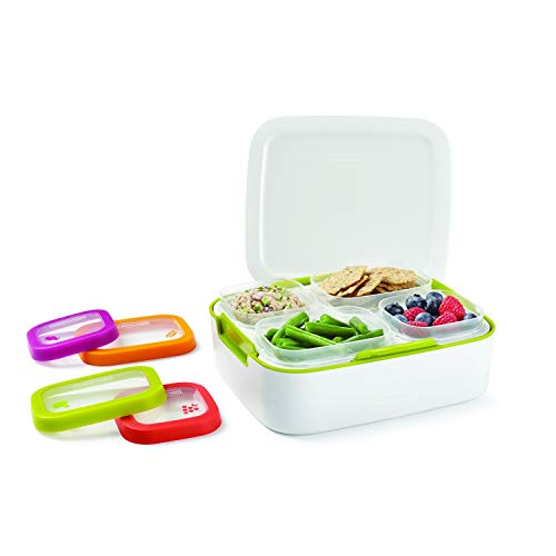 Rubbermaid Balance PrePortioned Lunch Storage Containers Meal Kit White/Citron 11Piece Set 1995512