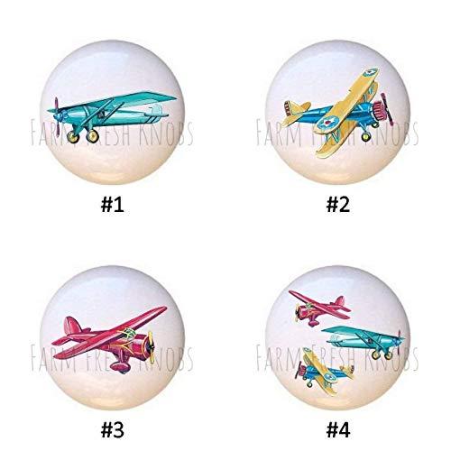 Drawer Knob Plane (Airplanes Vintage-look DECORATIVE Drawer Pulls Dresser KNOBS)