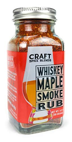 Whiskey Maple Smoke - All Purpose Rub/Seasoning - Craft Spice Blends - Smokehouse Specialty Rub - Dry Rub for Smoking Meat - Jerky Seasoning ()