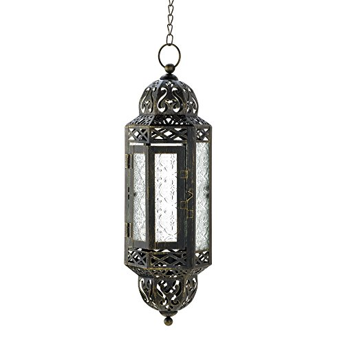 (Zings & Thingz 57071042 Filigree Hanging Candle Lantern Black)