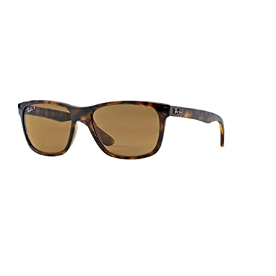 Ray-Ban RB4181 710/83 57M Light Havana/Brown Polarized Sunglasses For Men For Women: Shoes