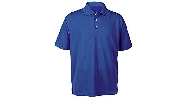 Small Paragon 108Y Youth Performance Mesh Polo44; Royal