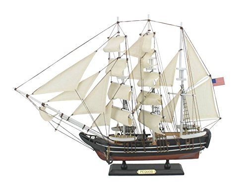 Boat Whaling (Hampton Nautical Wooden Moby Dick - Pequod Model Whaling Boat, 24