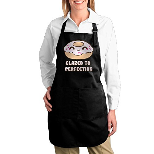 Joapron GLAZED TO PERFECTION Dount Fashions Aprons For Laundry Black Size One - Delivery Pizza Hut Ipswich