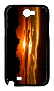 case for sale cases Sunset Silhouette PC Black case/cover for samsung galaxy N7100/2