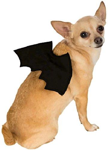 [Black Bat Wings Pet Costume Accessory - Dog Cat - Medium/Large] (Bat Wings Dog Costume)