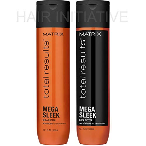 Total Result Mega Sleek Shea Butter Shampoo & Conditioner 10.1oz / 300 ML ()