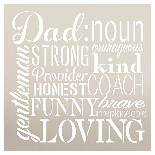 (Dad Noun Sign Stencil by StudioR12 | Wood Signs | Word Art Reusable | Father's Day | Painting Chalk Mixed Media Multi-Media | DIY Home - Choose Size (12