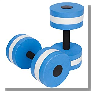 Trademark Innovations Aquatic Exercise Dumbells - Set of 2 - for Water Aerobics (Blue)