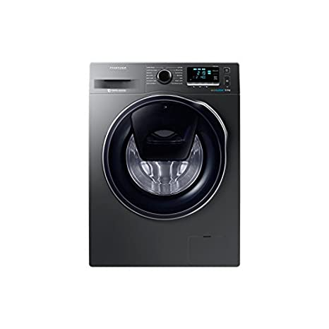 Samsung WW80K6414QX Independiente Carga frontal 8kg 1400RPM A+++ Acero inoxidable - Lavadora (Independiente, Carga frontal, Acero inoxidable, ...
