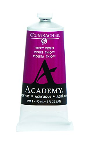 Grumbacher Academy Acrylic Paint, 90ml/3 oz Metal Tube, Thio Violet (Violet Acrylic Paint)