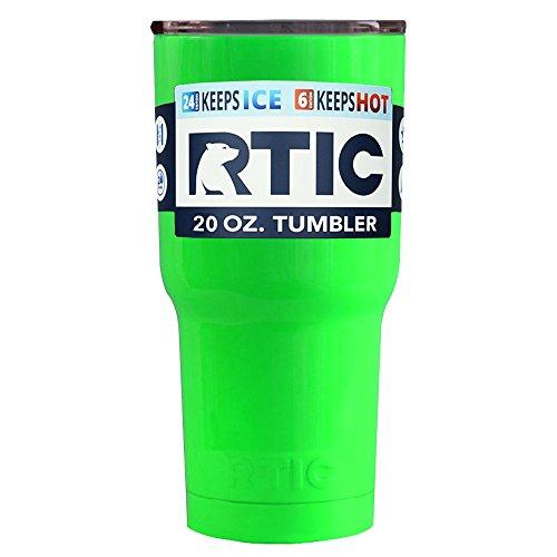 RTIC 20 oz Neon Green Tumbler Cup