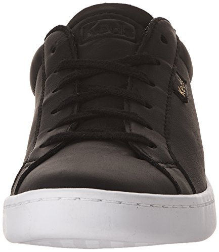Sneakers Fashion Ace Women's Black Leather Keds AzI0wvx6