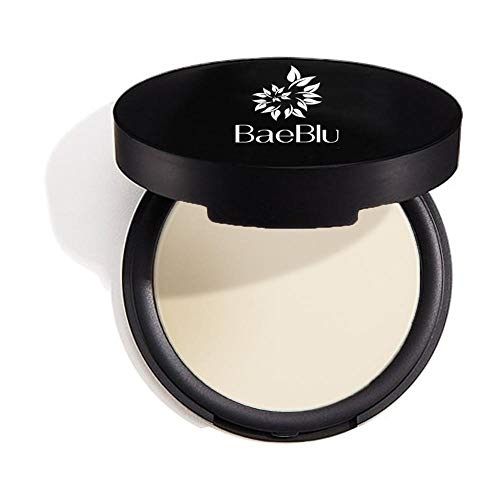 BaeBlu Mattifying Pressed Powder Compact, 100% Vegan, Gluten-Free, Non GMO and Made in USA with Natural and Organic Ingredients, Sheer Light
