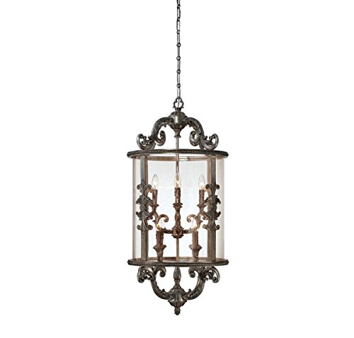 (Savoy House 3-2502-8-176 Athena 9-Light Foyer in Silver Lace)