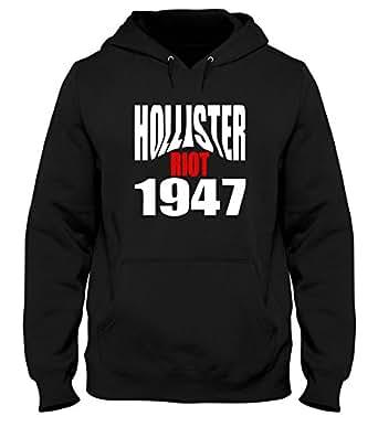 Sudadera con Capucha Hombre Negro OLDENG00523 Hollister Riot 1947: Amazon.es: Ropa y accesorios