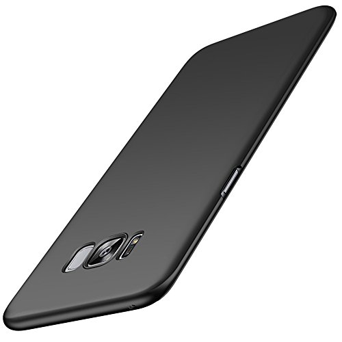 """Price comparison product image Galaxy S8 Case (5.8""""),  ACMBO Slim-fit [SKIN TOUCH FEEL] Metallic Texture Anti-Fingerprints Non-slip No-fade Shockproof PC Phone Case Cover For Samsung Galaxy S8 G950 G950F G950U 5.8 inch,  Black"""