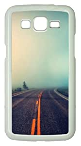 Samsung Galaxy Grand 2 Case - Foggy Road PC Hard Case for Samsung Galaxy Grand 2 / Samsung Galaxy 7106 - White