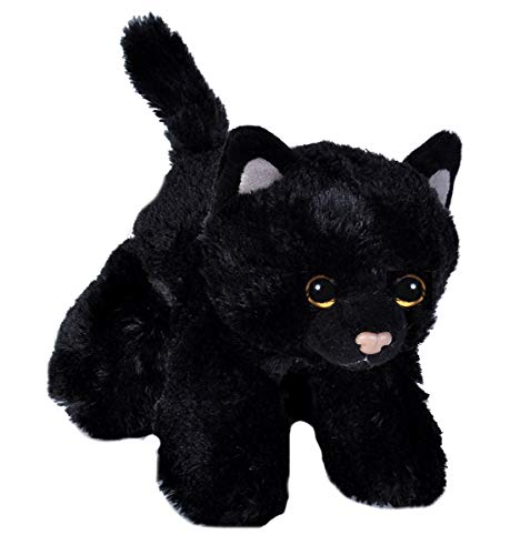Realistic Cat Whiskers Halloween (Wild Republic Black Cat Plush, Stuffed Animal, Plush Toy, Gifts for Kids, Hug'Ems)