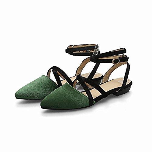 Bride Chaussures Escarpins Vert Cheville Femmes MissSaSa Plats aIEwT5