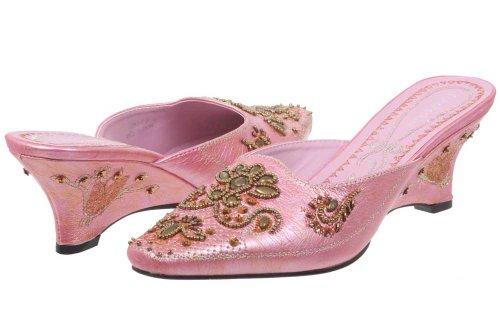 JohnFashion - Sandalias de vestir de Piel para mujer Rosa