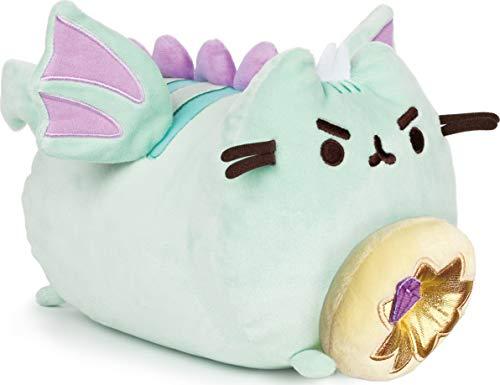 """GUND Pusheen Dragonsheen Donut Log Plushed Stuffed Animal Cat, 9.5"""""""