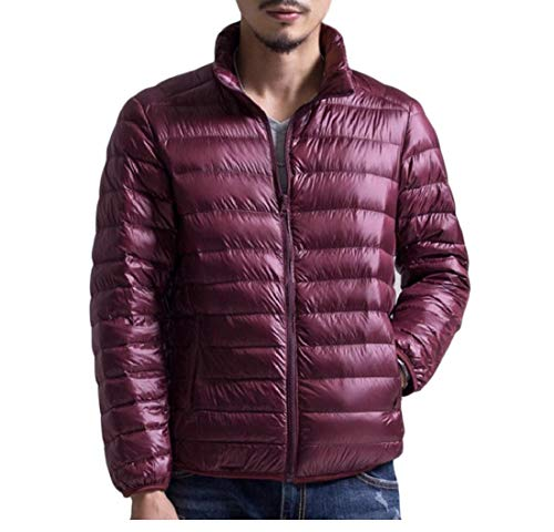 Coat Light Plus Sankt Padded Jacket Weight Thin Mens Red Size Wine Vertical Collar qpXXwI