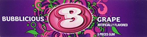 Bubblicious Grape Bubble Gum, 5 pieces (Pack of (2 Piece Candy Corn)