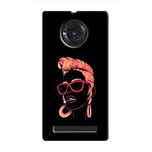 Cover it up Sketchy Girl Hard Case for Micromax Yu Yuphoria - Multi Color