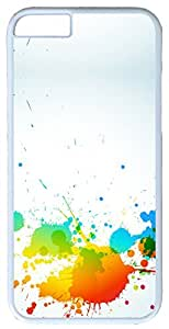 "Abstract Colorful Abstract Splash Case for iPhone 6(4.7"") PC Material White"