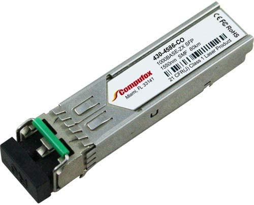 430-4586 Dell Compatible 1000BASE-ZX SFP 1550nm 80km SMF transceiver