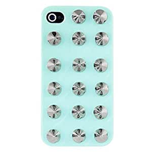 Punk Style Alloy Silver Plated Rivet Hard Case for iPhone 4/4S