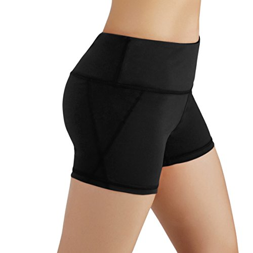 ODODOS Power Flex Yoga Short Tummy Control Workout Running