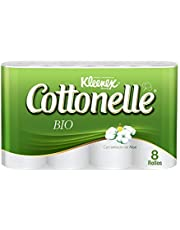 Kleenex Cottonelle Bio Compact, Papel Higiénico, 408 Hojas Dobles, 8 rollos