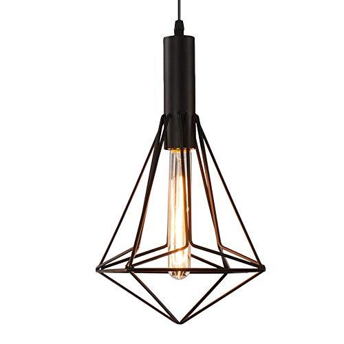 Lámpara de techo colgante geométrica vintage de hierro con diseño ...