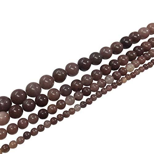 Top Quality Natural Purple Aventurine Gemstone 8mm Round Loose Stone Beads 15.5