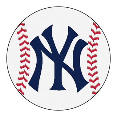 New York Yankees Baseball Rug - MLB Round Accent Floor Mat - New York Yankees Baseball Rug